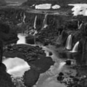 Sigoldufoss Waterfalls Iceland 1294 Art Print