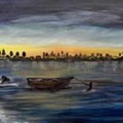 Silent Night At Sea Art Print