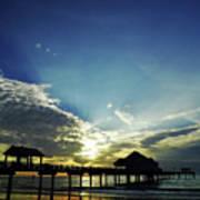 Silhouette Pier 60 Sunset Art Print