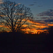 Silhouette Sunset 004 Art Print
