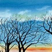 Silhouettes Against The Sky Art Print