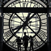 Silhouettes At Musee D'orsay Art Print