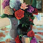 Silk Flowers Art Print