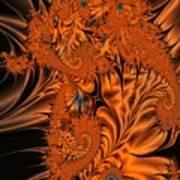 Silk in Orange Art Print