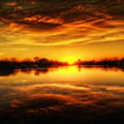 Silky Sunset  Art Print