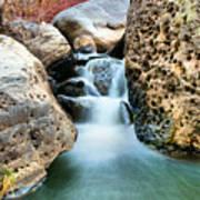 Silky Waters Of Jemez Springs Art Print