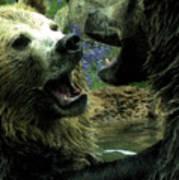 Silly Bears Art Print