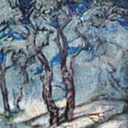 Silver Beach Art Print