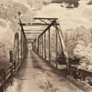 Silver Bridge Antique Art Print