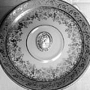 Silver Cameo Plate Art Print