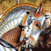 Silver Carousel Horse II Art Print