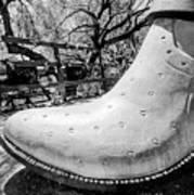 Silver Cowboy Boot Art Print
