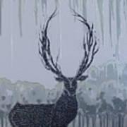 Silver Deer Art Print