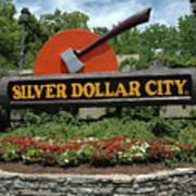 Silver Dollar City Sign Art Print