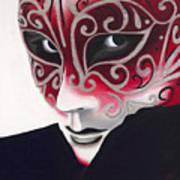 Silver Flair Mask Art Print