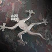 Silver Lizard Art Print