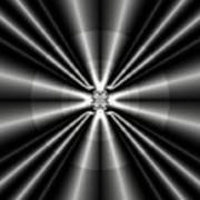 Silver Rays 1 Art Print