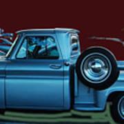 Silver Truck Art Print