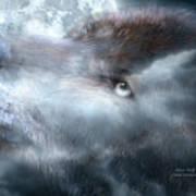 Silver Wolf Art Print