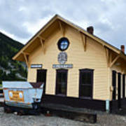 Silverton Train Depot Art Print