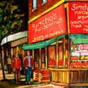 Simchas  Fruit Store Art Print
