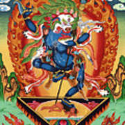 Simhamukha - Lion Face Dakini Art Print