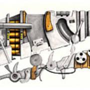 Simple Machines Drawing Three Art Print