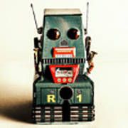 Simple Robot From 1960 Art Print