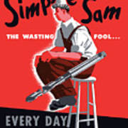 Simple Sam The Wasting Fool Art Print
