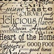 Simple Speak Kitchen Art Print by Grace Pullen