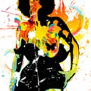 Simplistic Splatter Art Print
