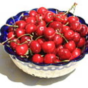 Simply A Bowl Of Cherries Art Print