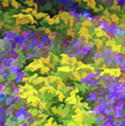 Simply Soft Colorful Garden Art Print