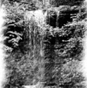 Simulated Pencil Drawing Tinker Falls. Art Print