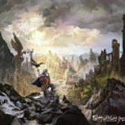 Simurgh Call Of The Dragonlord Art Print
