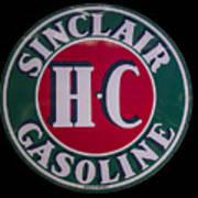 Sinclair Gasoline Porcelain Sign Art Print