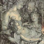 Sine Cerere Et Libero Friget Venus Art Print