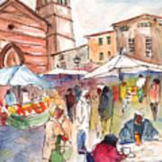Sineu Market In Majorca 01 Art Print
