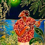 Sing Hanalei Moon Art Print by Angela Treat Lyon
