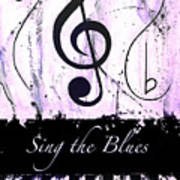 Sing The Blues Purple Art Print