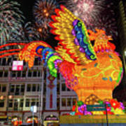 Singapore Chinatown 2017 Lunar New Year Fireworks Art Print
