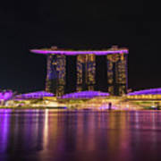 Singapore In Purple 1 Art Print