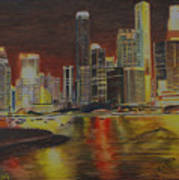 Singapore Nights Art Print