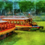 Singapore River Boats Art Print
