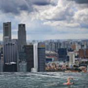 Singapore Swimmer Art Print by Nina Papiorek