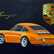 Singer Porsche Art Print