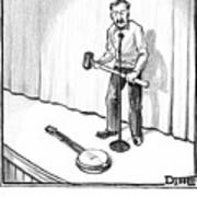 Singer Smashes Banjo Art Print