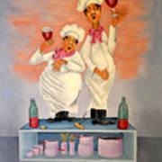 Singing Chefs Art Print