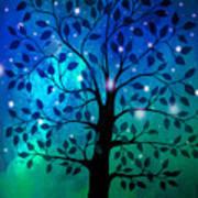 Singing In The Aurora Tree Art Print