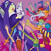 Singing Nuns Art Print